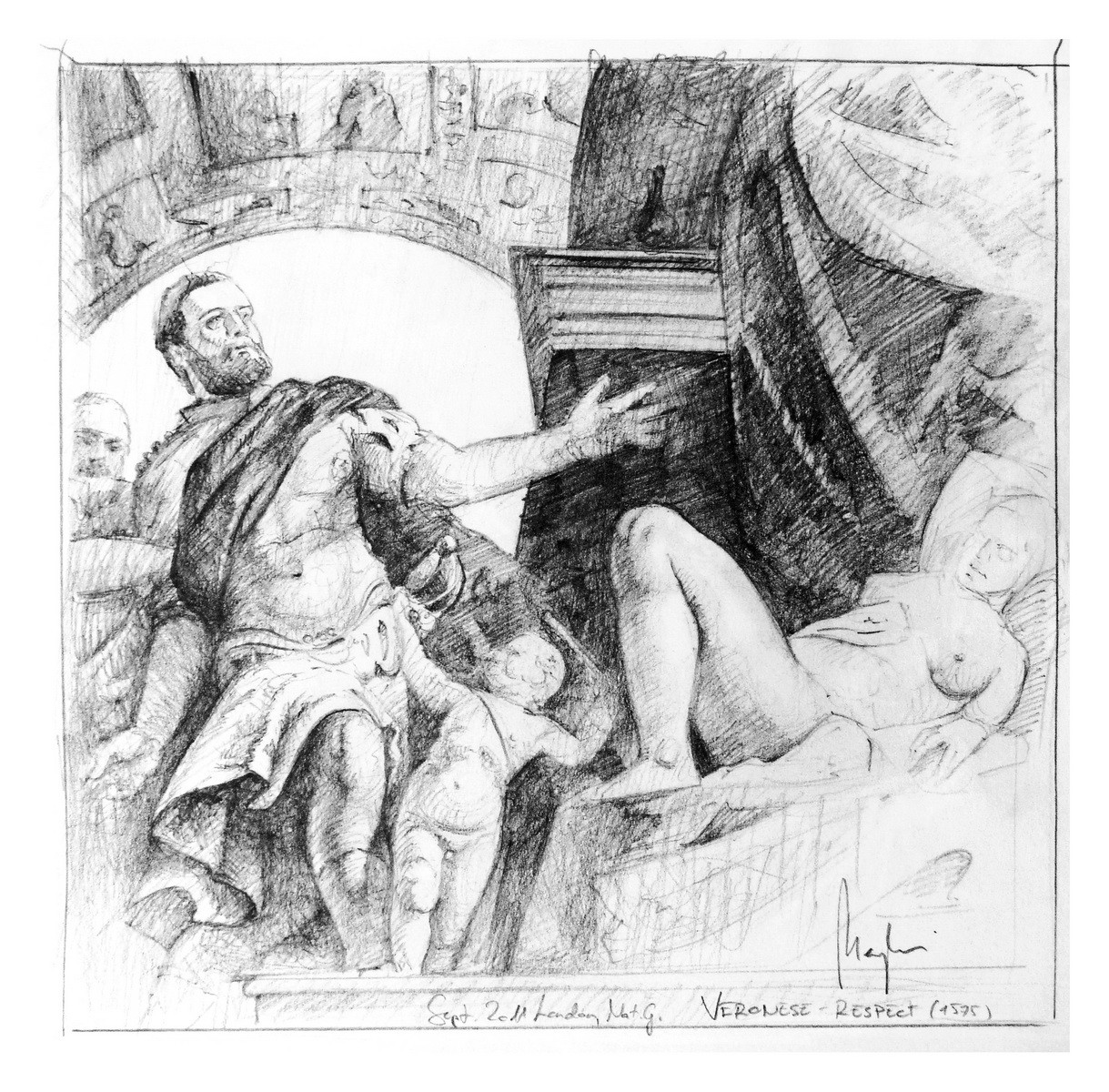 Veronese Study (pencil, paper) / National Gallery, London