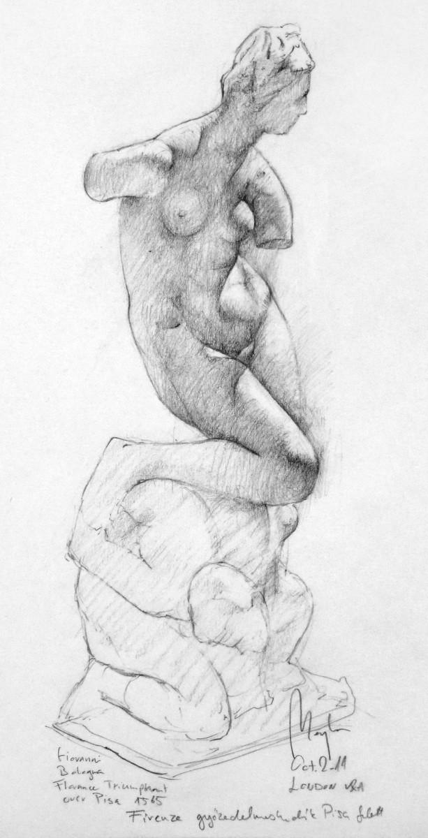 Giovanni Bologna Study (pencil, paper) / V&A Museum, London