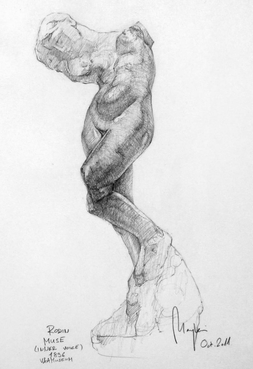 Rodin Study (pencil, paper) / V&A Museum, London