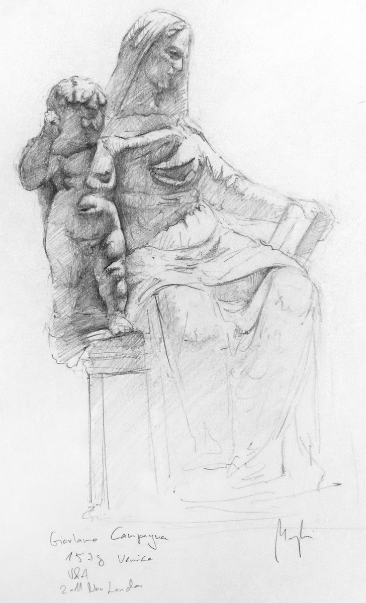 Giorlano Campagna Study (pencil, paper) / V&A Museum, London