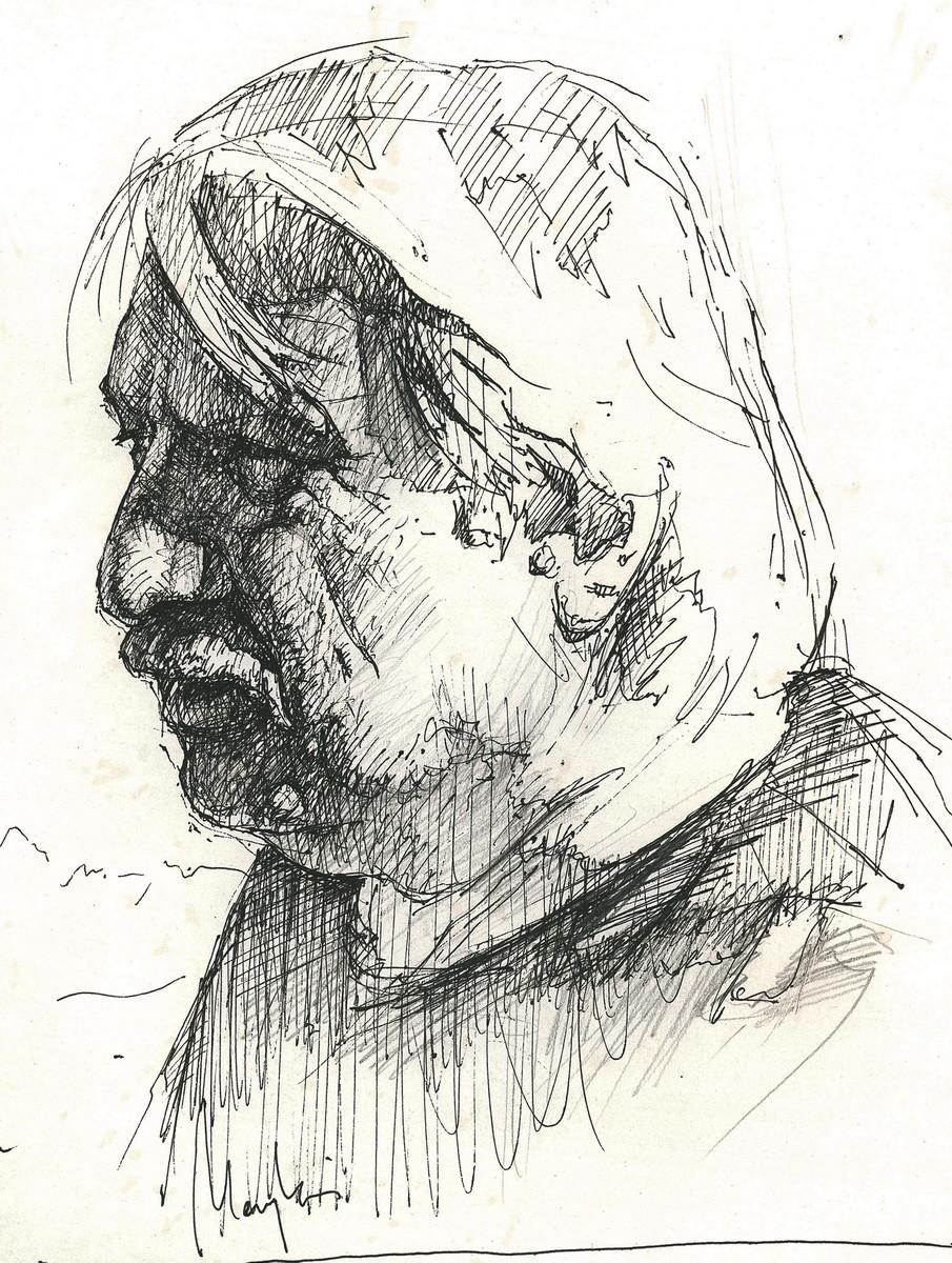 Dad (pencil, ink, paper)