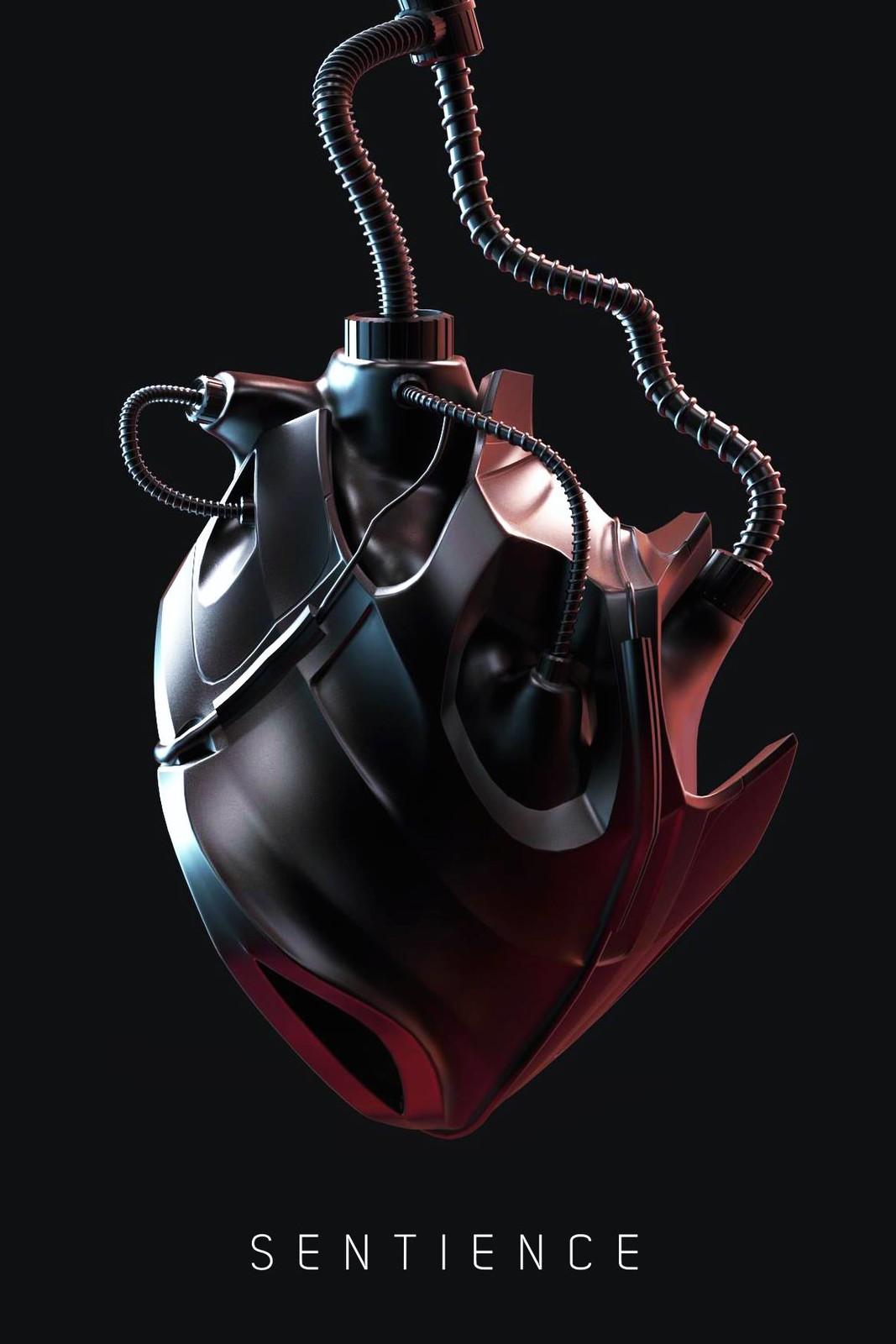 Robotic Heart. (3d)