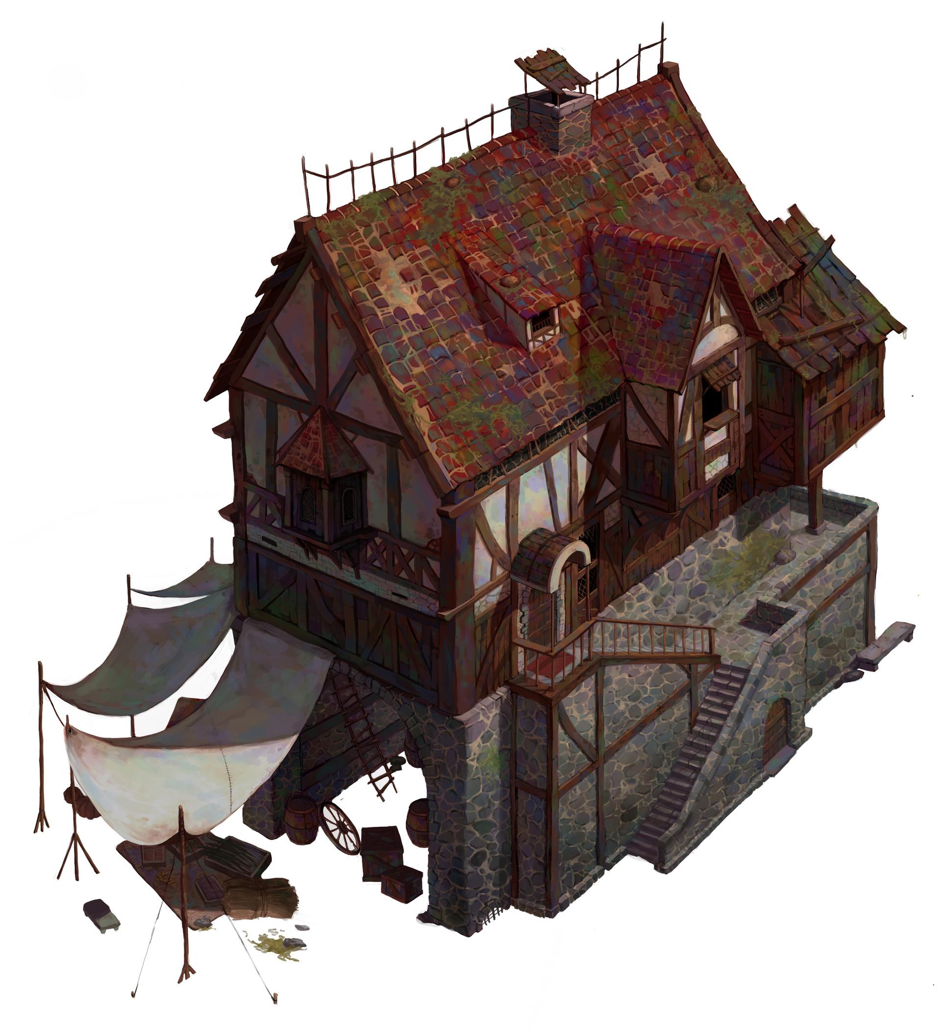 Cartoon Fantasy City Building Game
