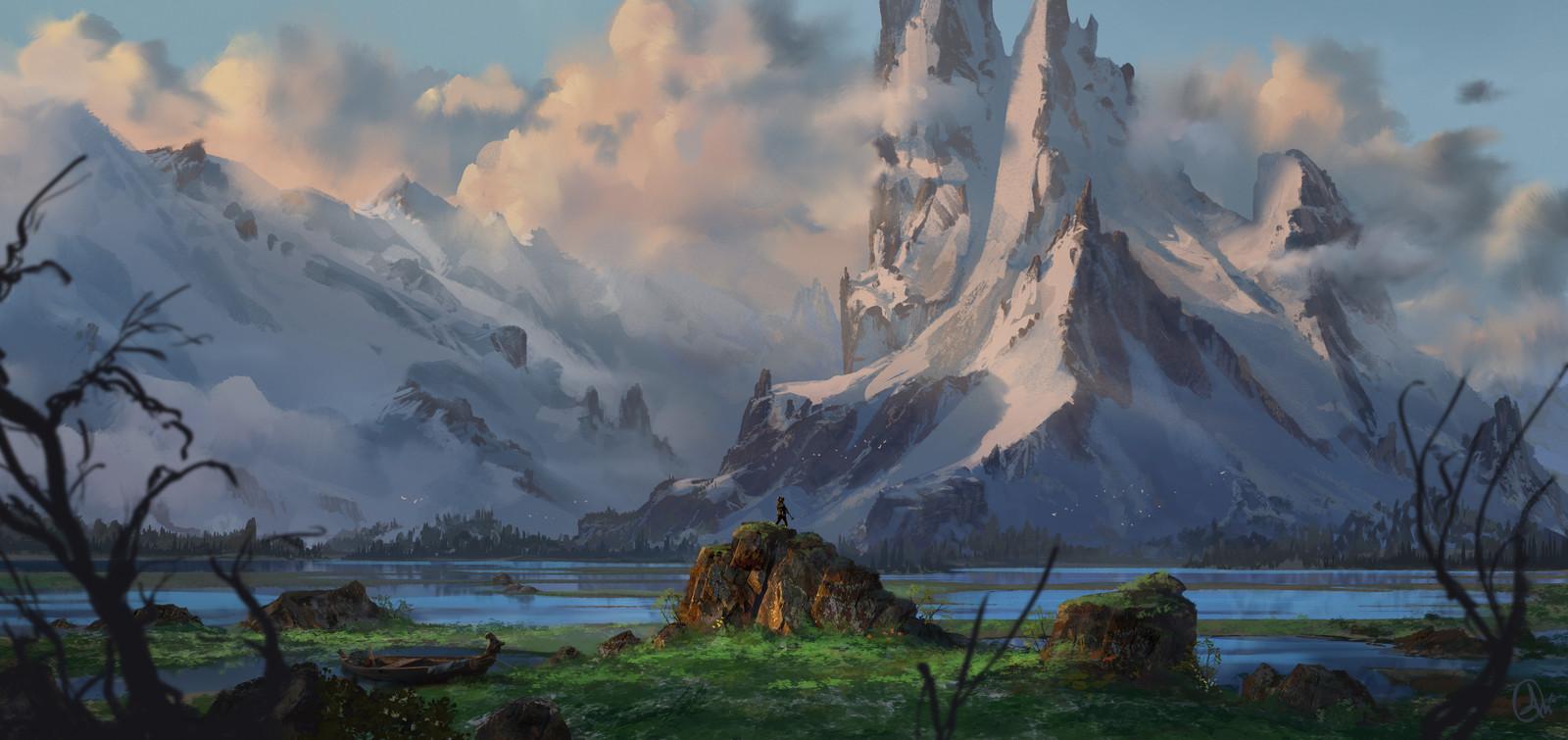 icy peaks , sketch