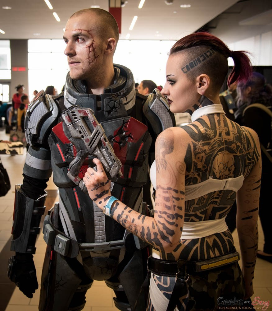 Artstation Commander Shepard And Jack Mass Effect