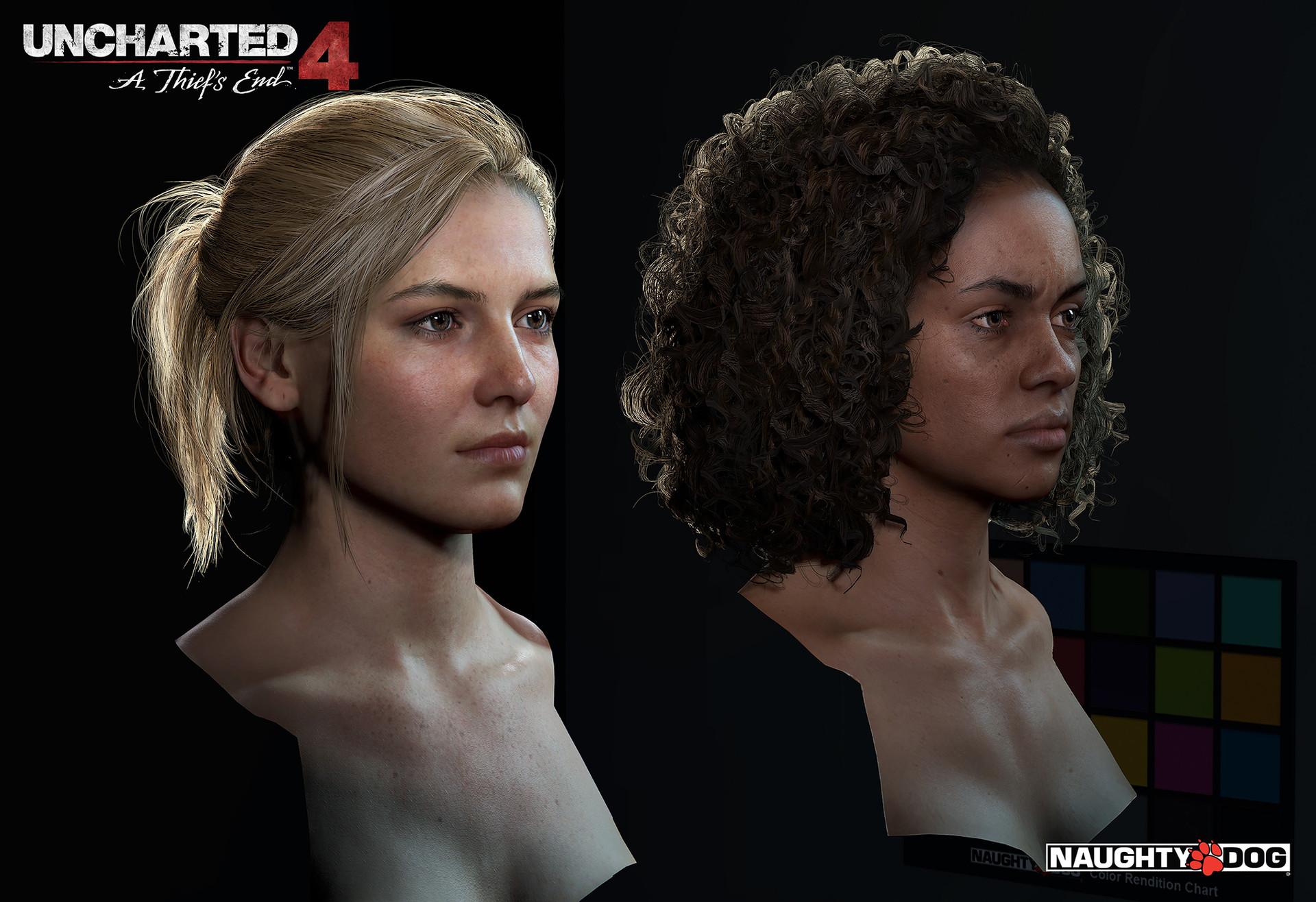 Artstation Uncharted 4 Characters Hair Yibing Jiang