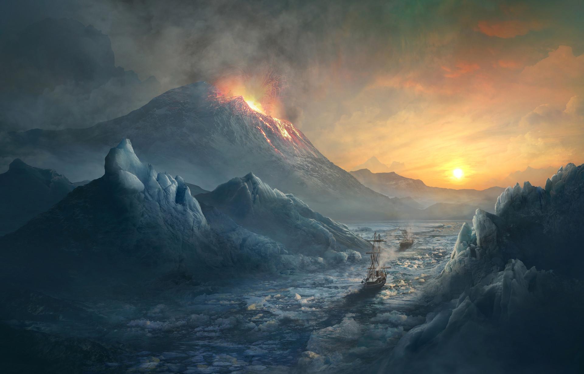 Erebus Mount. Miskatonic Expedition.