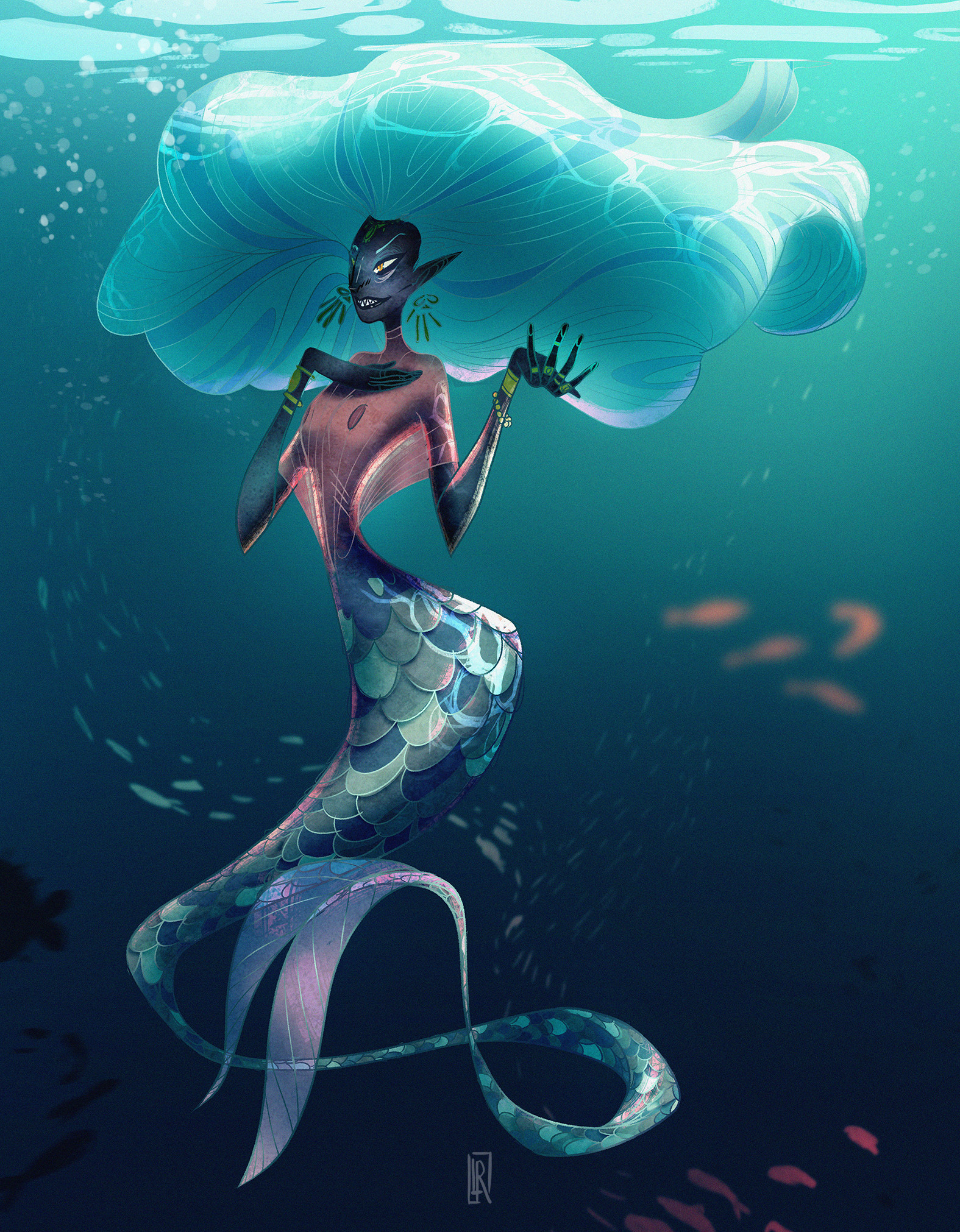 Character Design Challenge Themes : Leslie rosique character design challenge mermaid