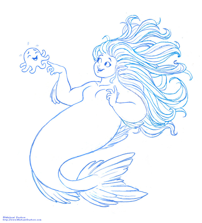 Michael dashow mike mermaid sketch 09 small