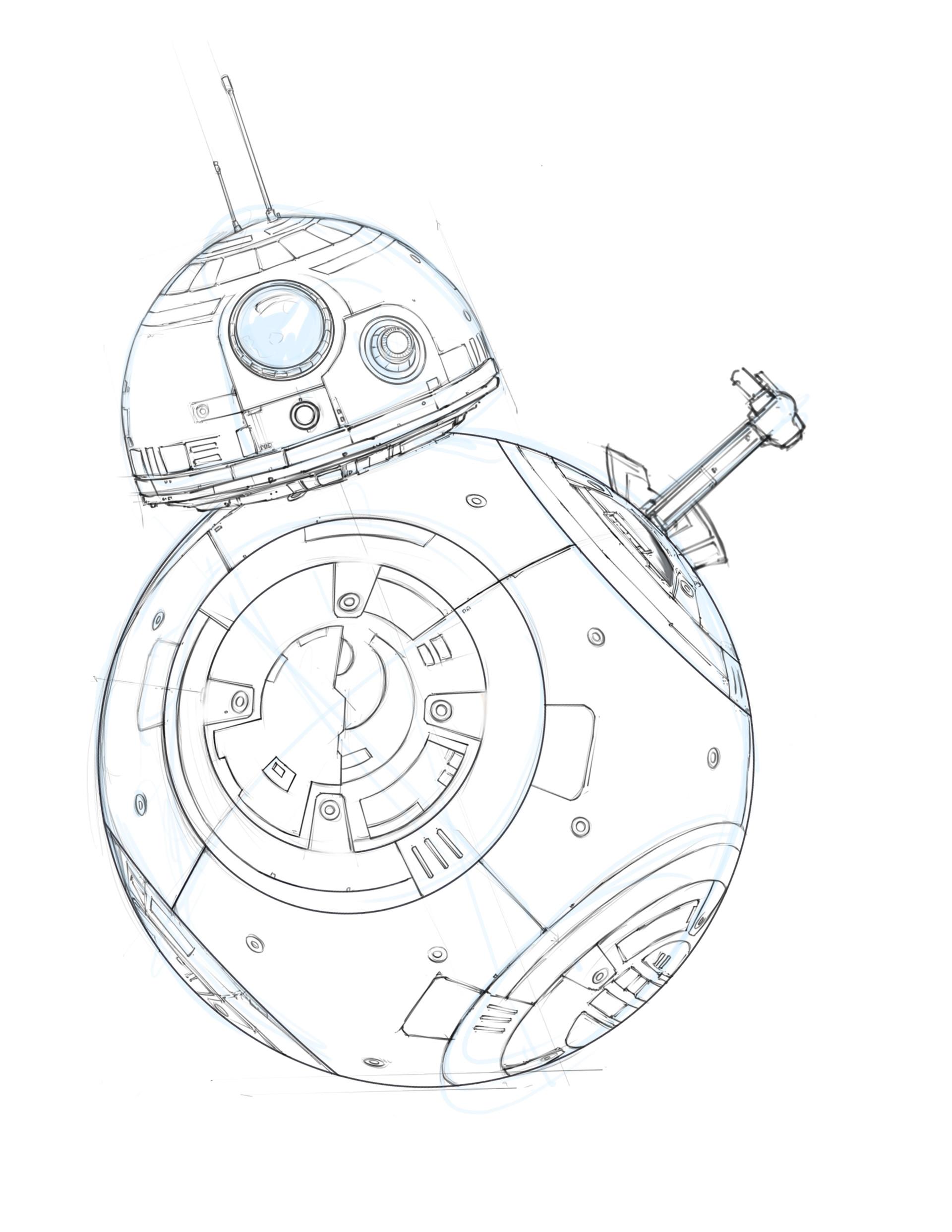 BB-8 Droid Sketch