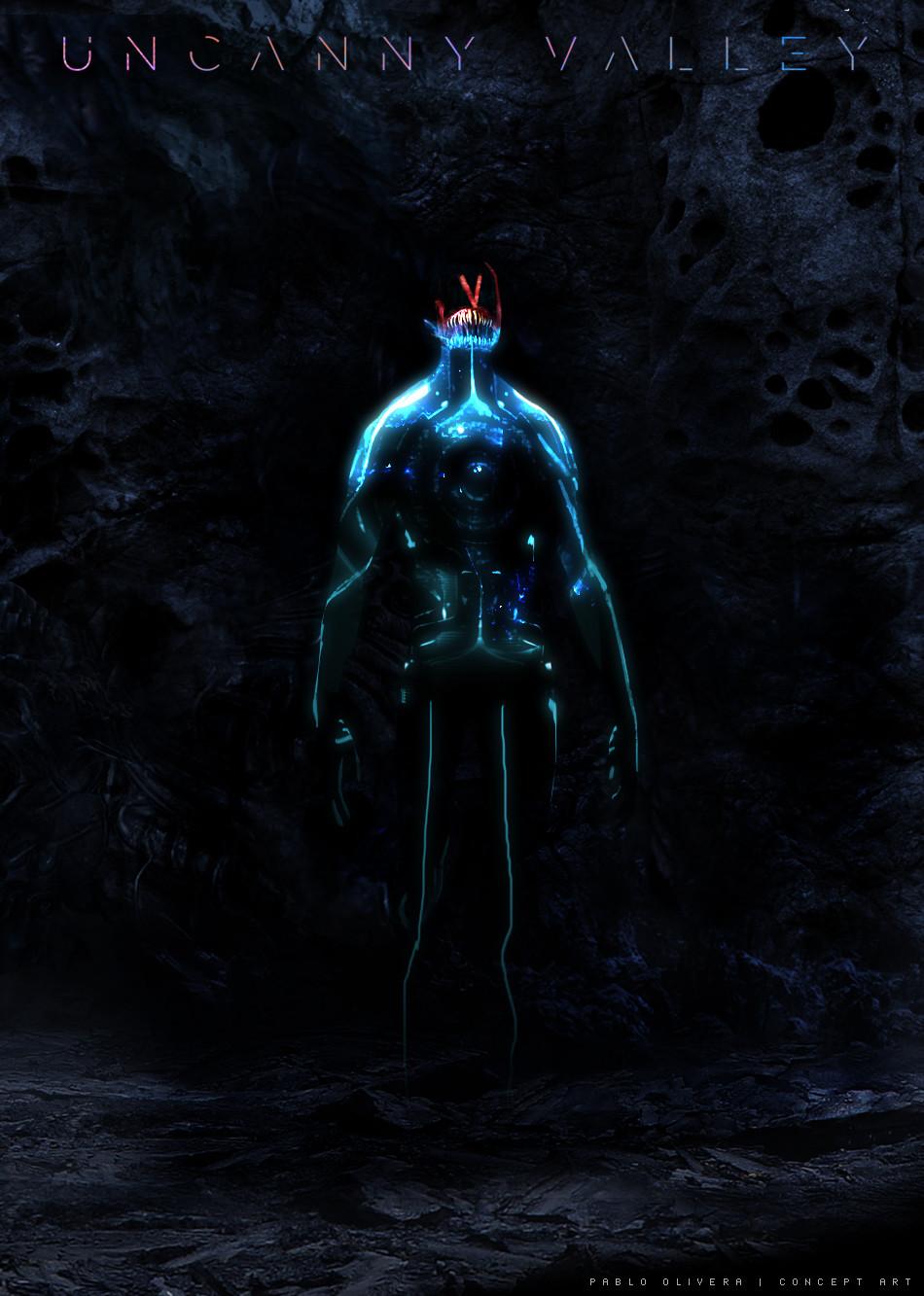 Pablo olivera uncanny valley character design alien 08