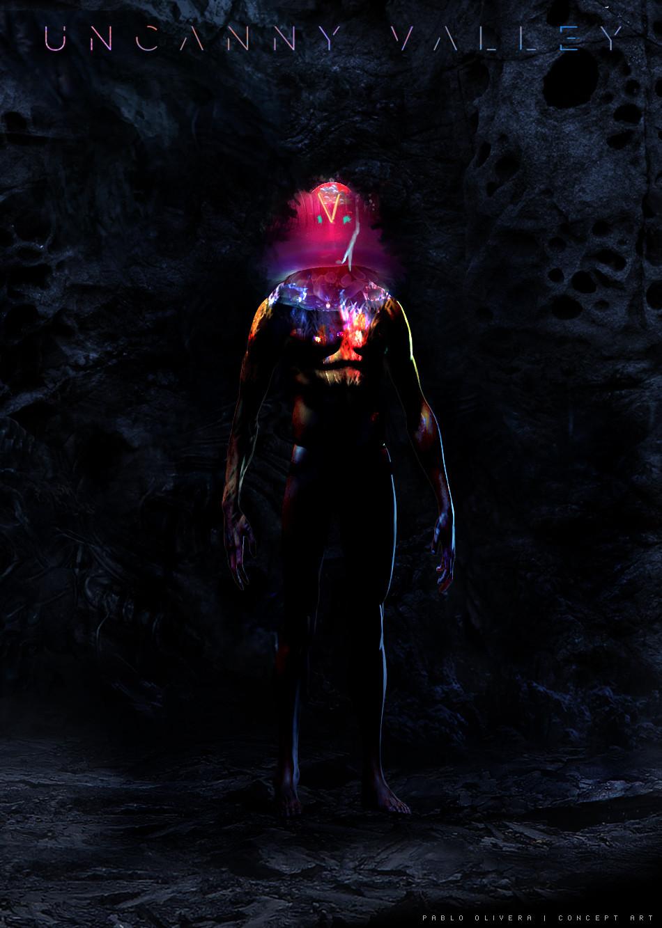 Pablo olivera uncanny valley character design alien 10