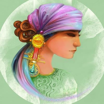 Josiah herman girl in green