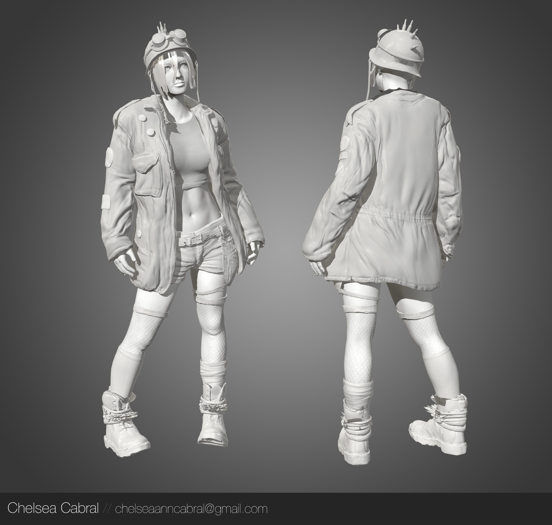 Artstation Post Apocalyptic Rebel Girl Chelsea Cabral