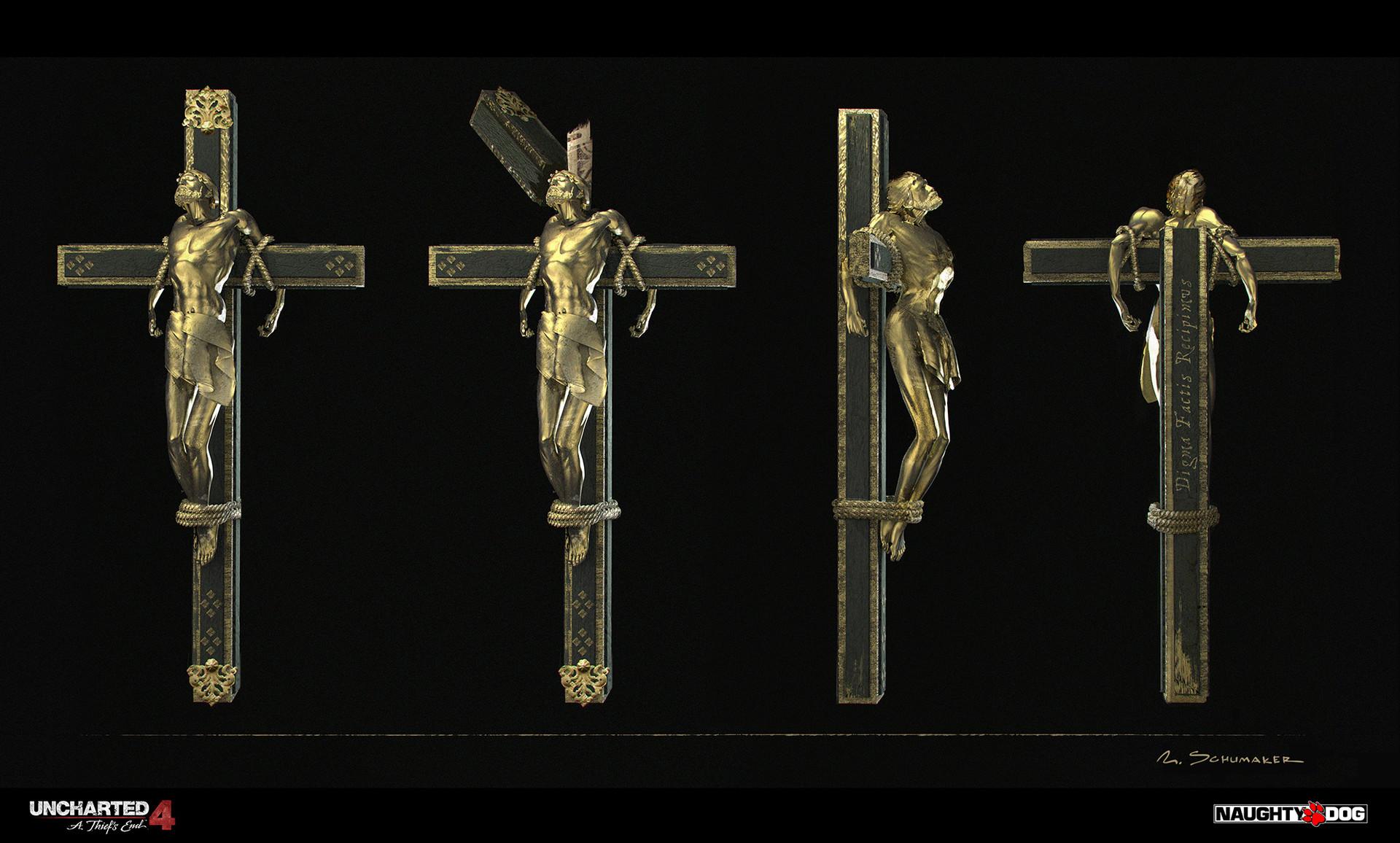 Artstation Saint Dismas Cross Nicholas Schumaker