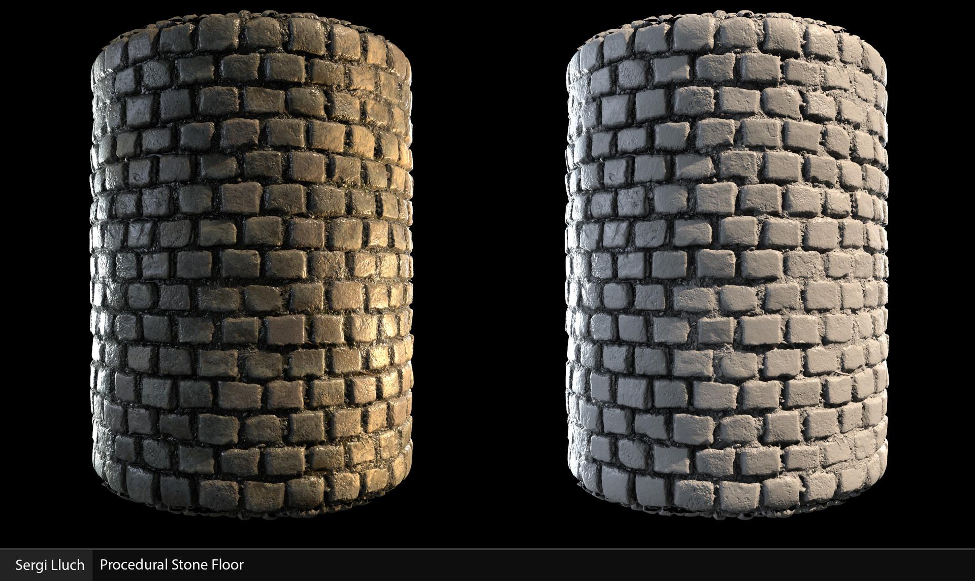 Sergi lluch stone floor render