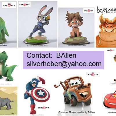 B allen ballen character artist silverheber yahoo