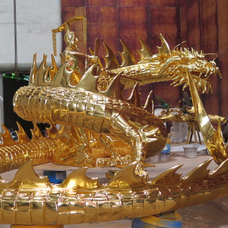 Chinese Emperor and Dragon statue