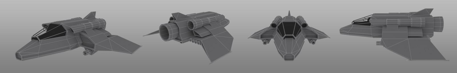 Wireframe renders