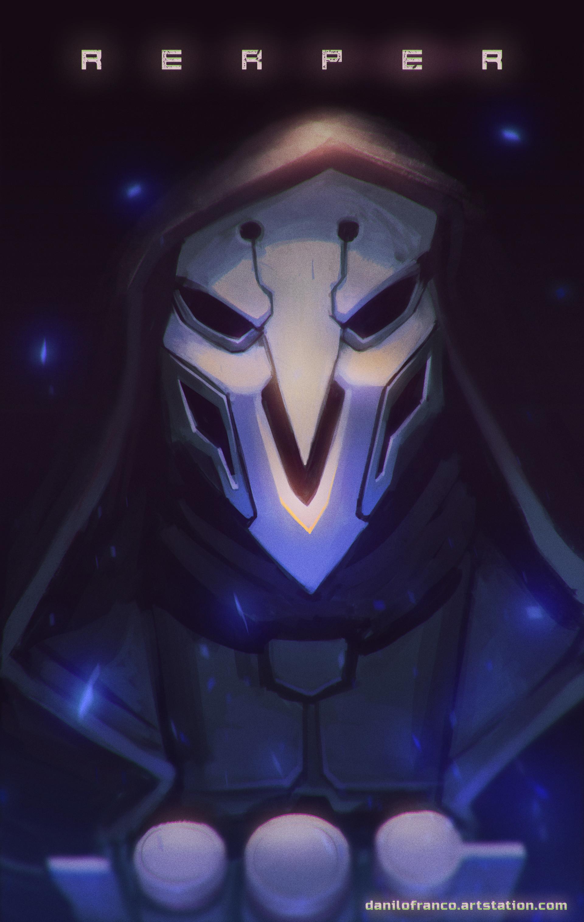 Artstation Reaper Overwatch Danilo Franco