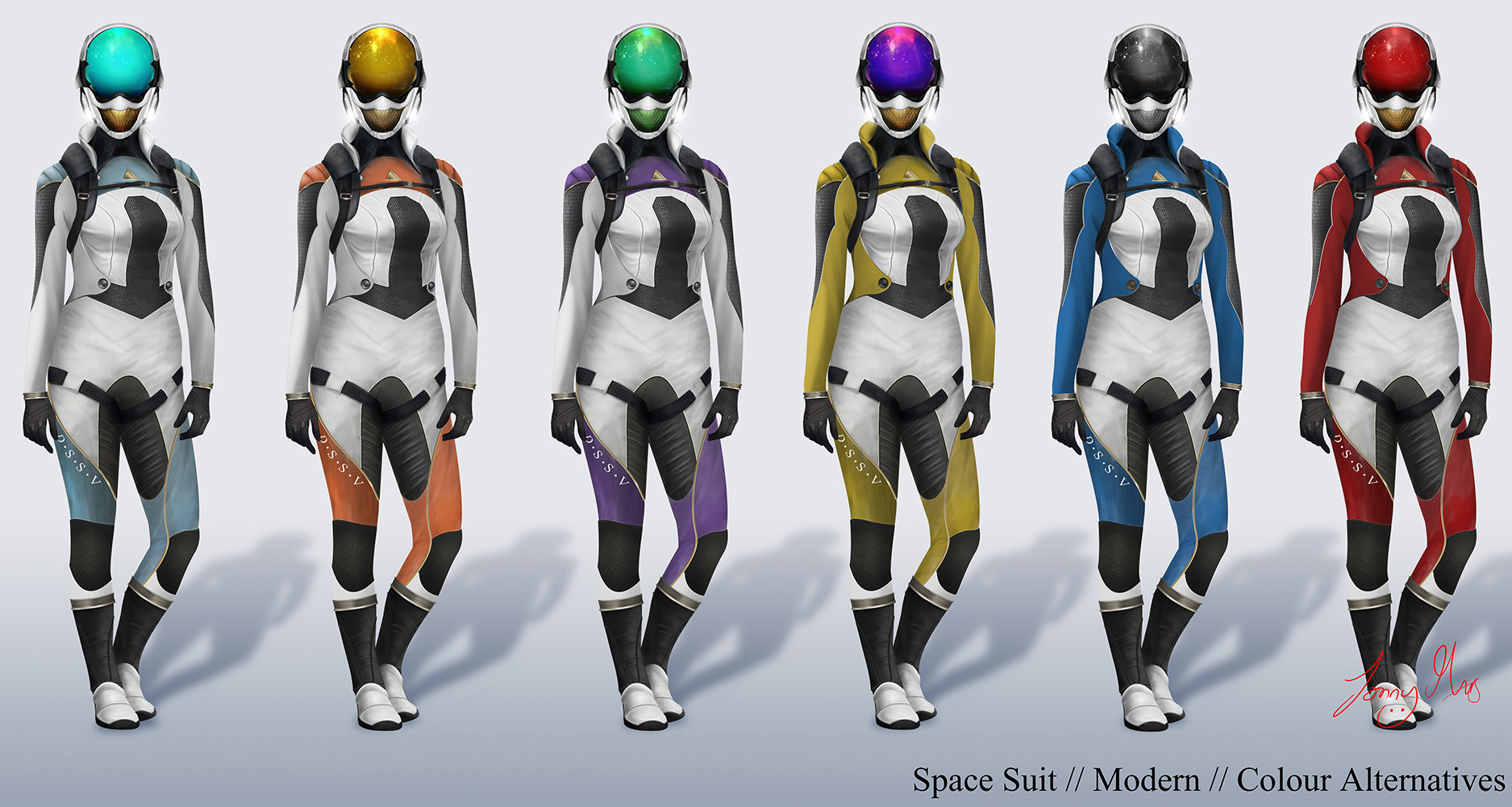 Space Suit Stylized On Modern Dive Suit