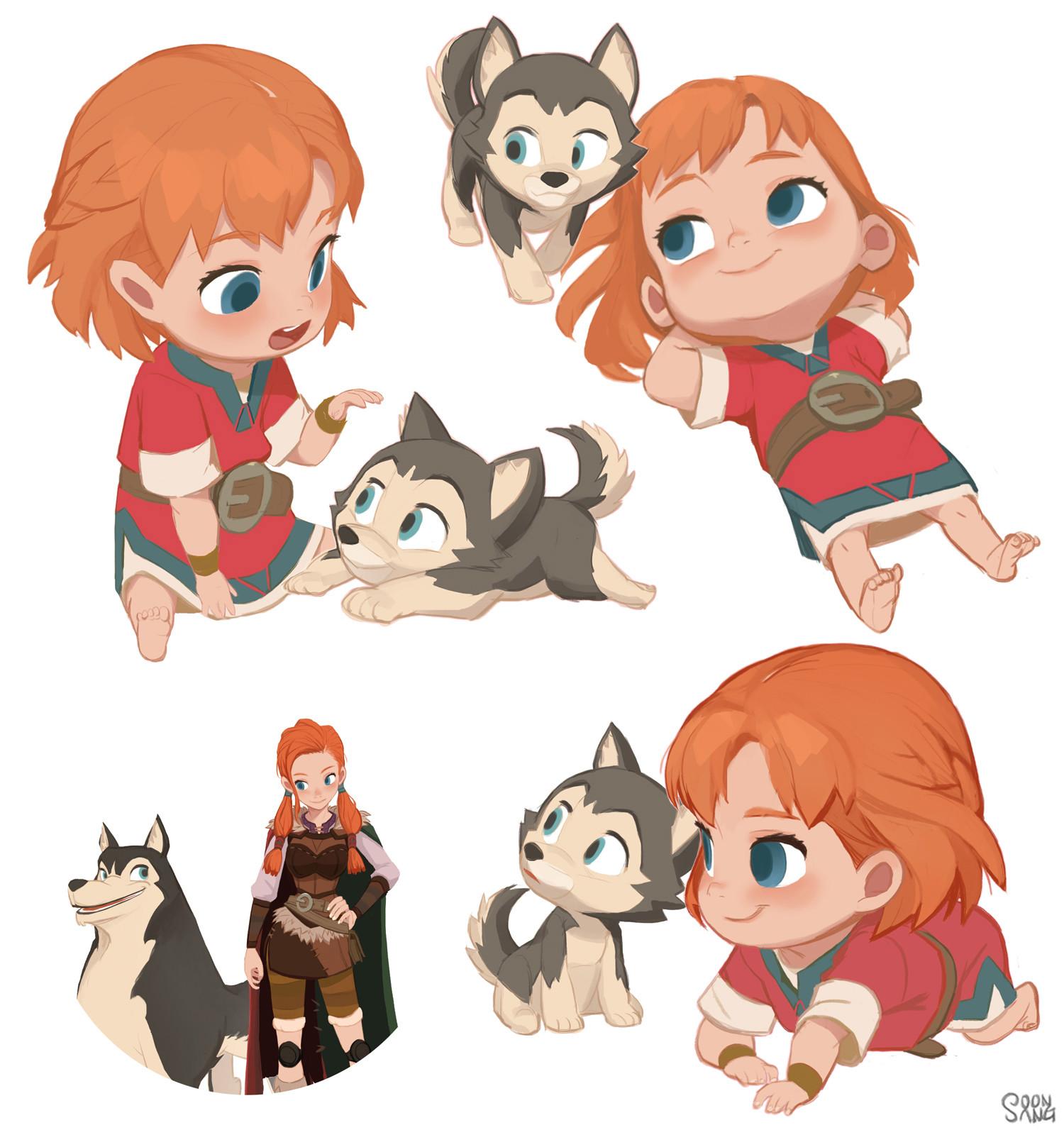 Character Design Jobs Disney : Artstation adventures of kayla quot loto s infancy