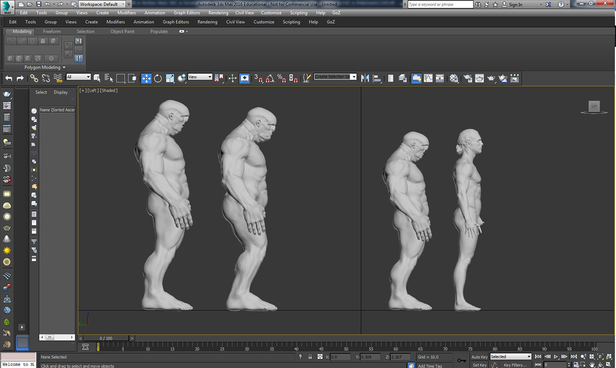 Comparing with 3d Scanned Body