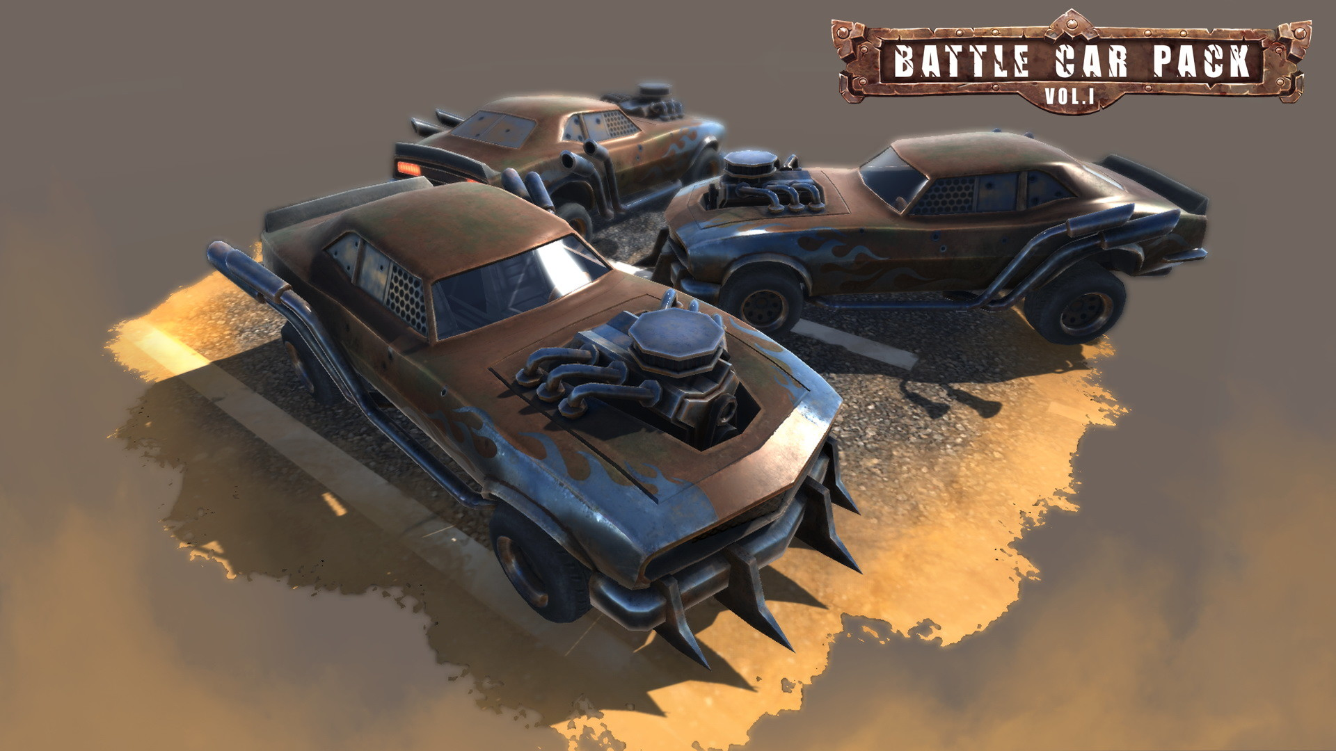 ArtStation Battle Cars Game Assets Evozon Game Studio