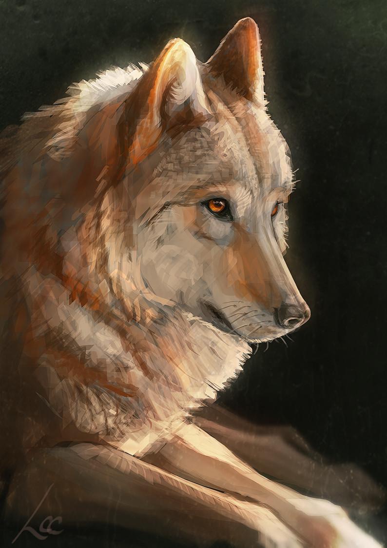 artstation dire wolf lindsey crummett