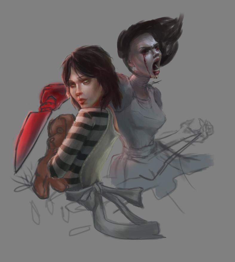 Logan Cure Alice Madnes Returns Speed Paint