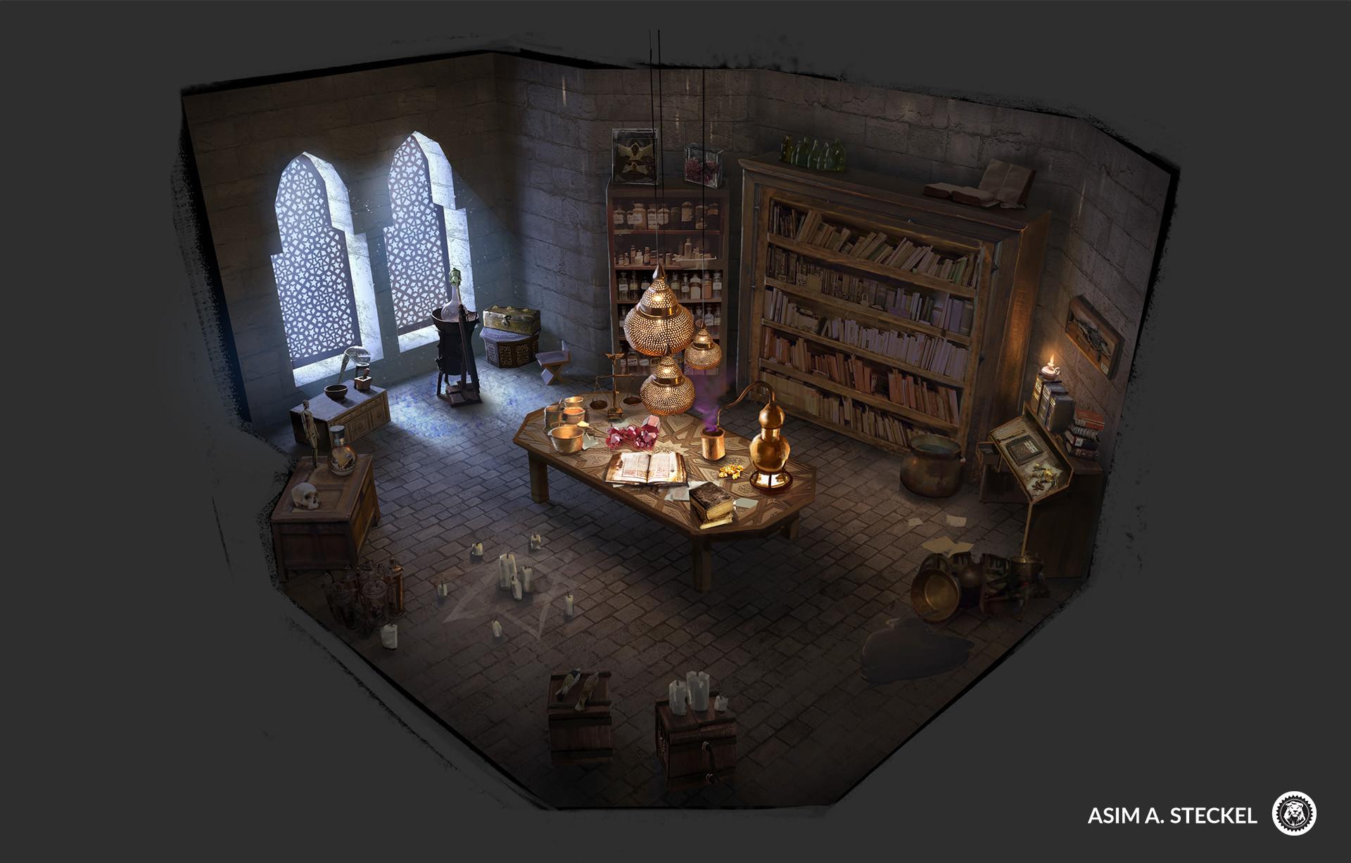 artstation alchemy lab asim steckel