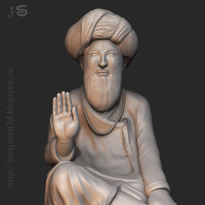 Surajit sen indian saint digital sculpt surajitsen india feb2016 clay