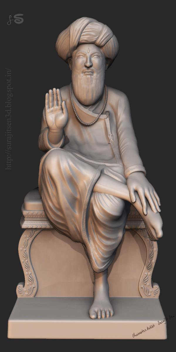 Surajit sen indian saint digital sculpt surajitsen india feb2016 clay