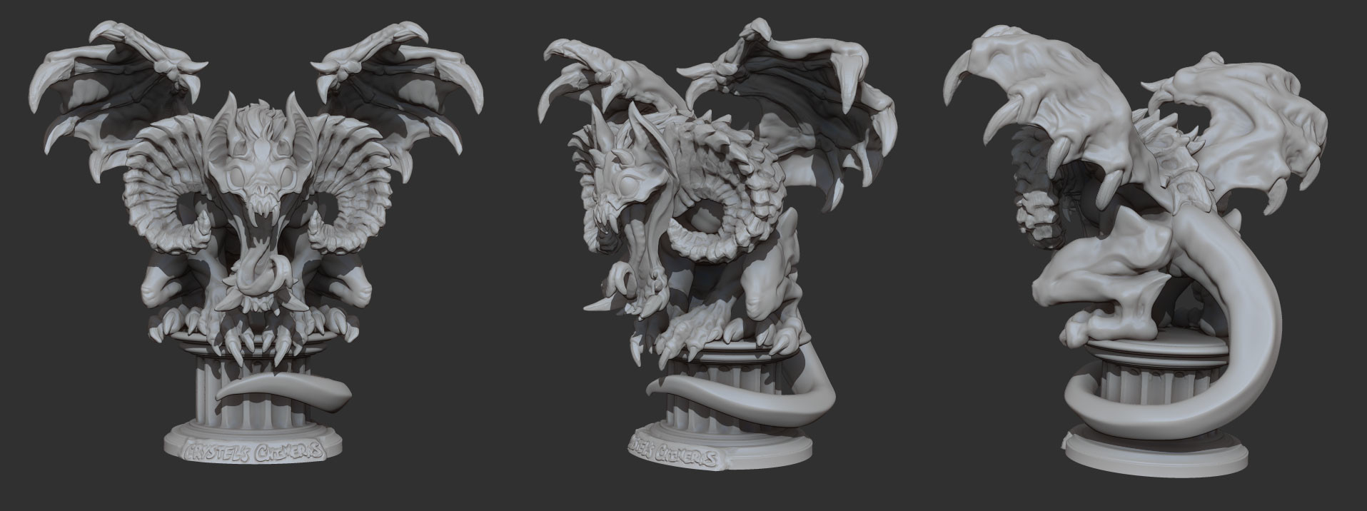 Crystel land gargsculpt