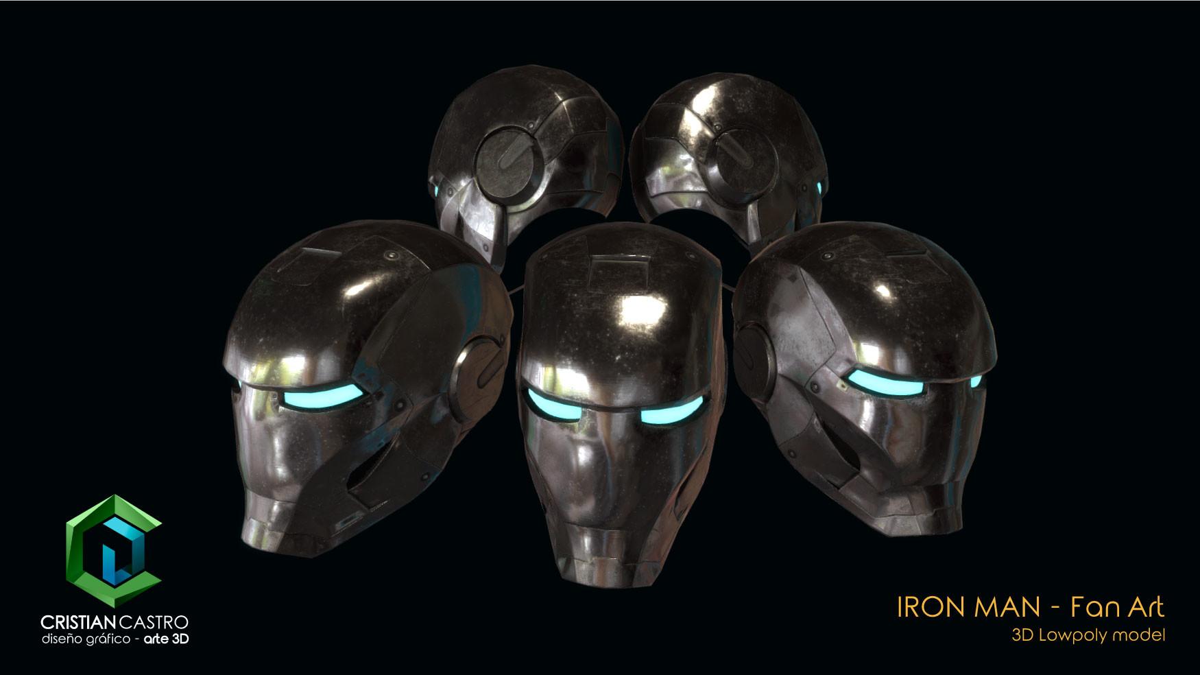 Iron Man Helmet 3d File