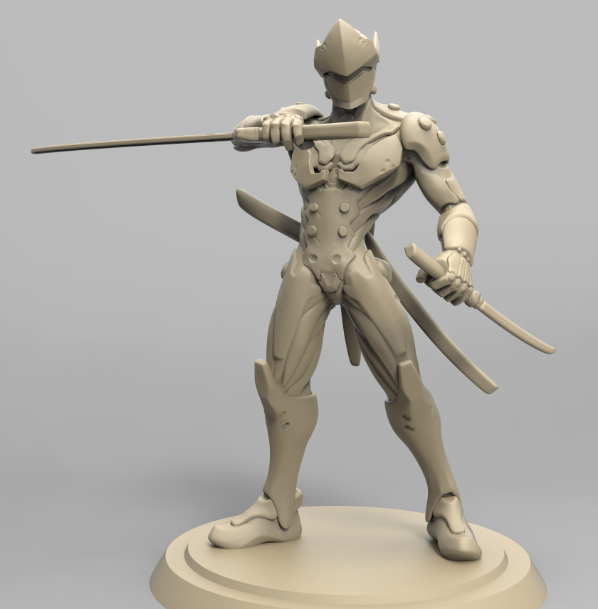 Genji Fan art sculpt