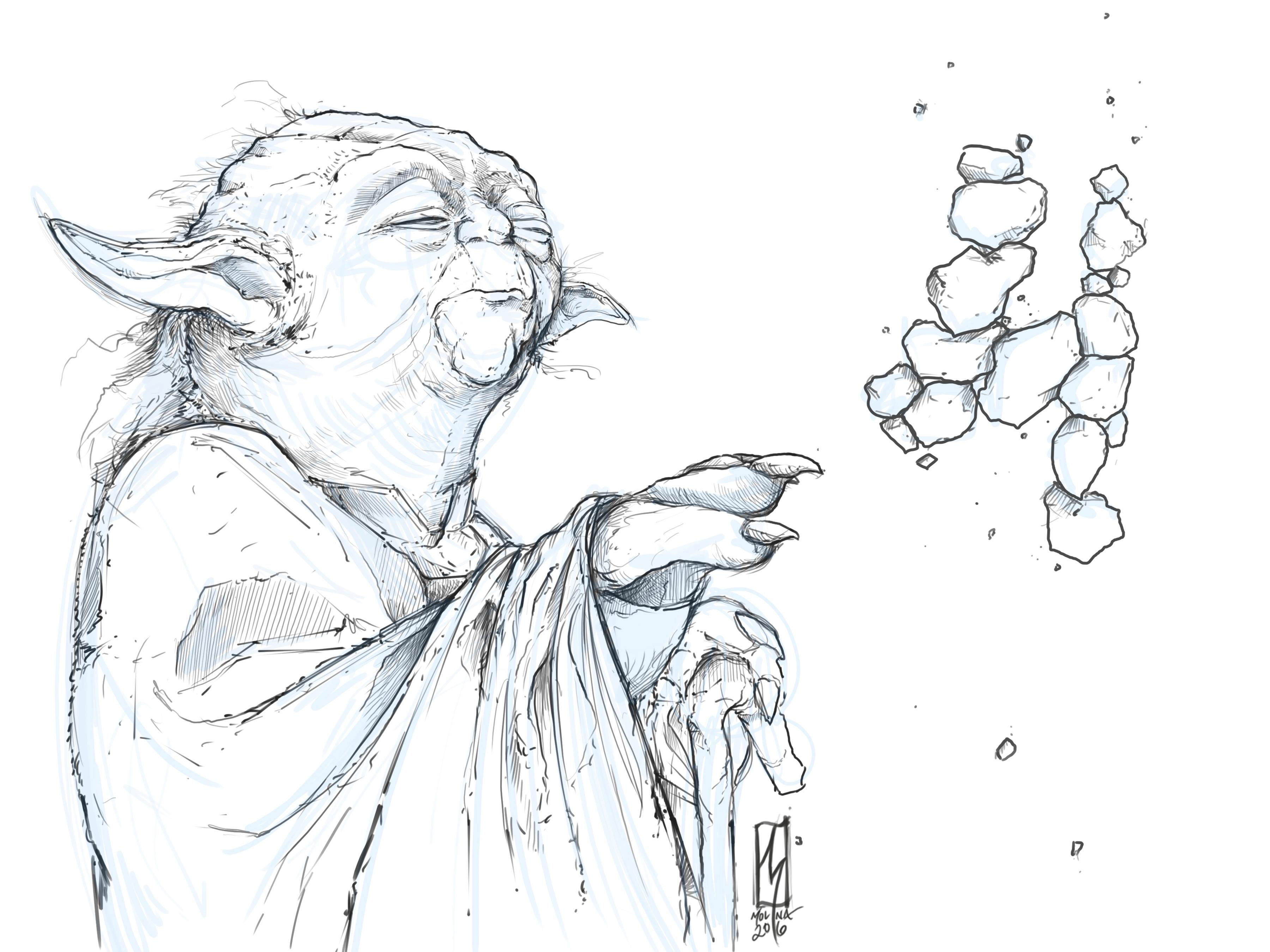 Yoda Constructing Sketch 2