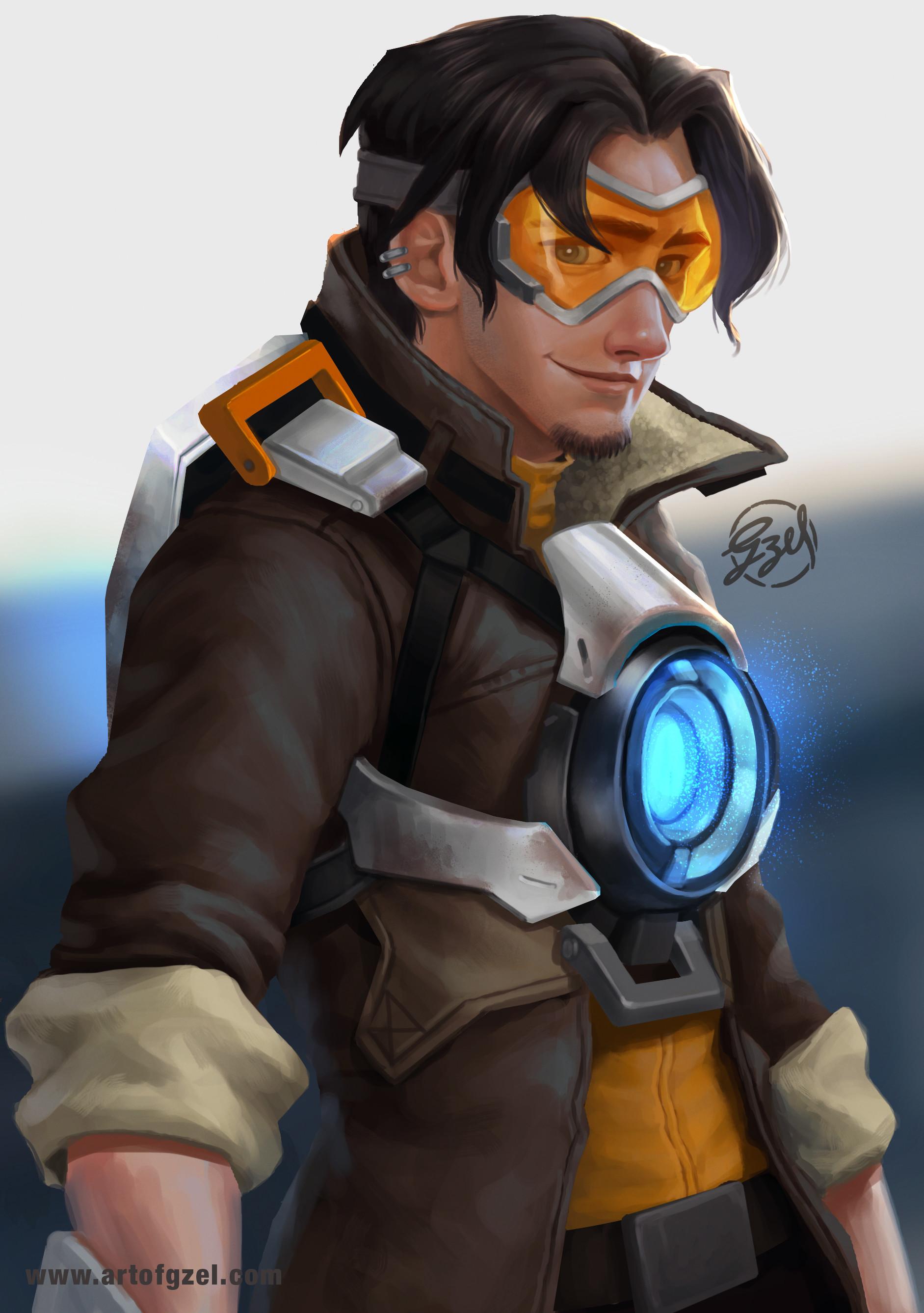 Flynn Rider as a guy Tracer