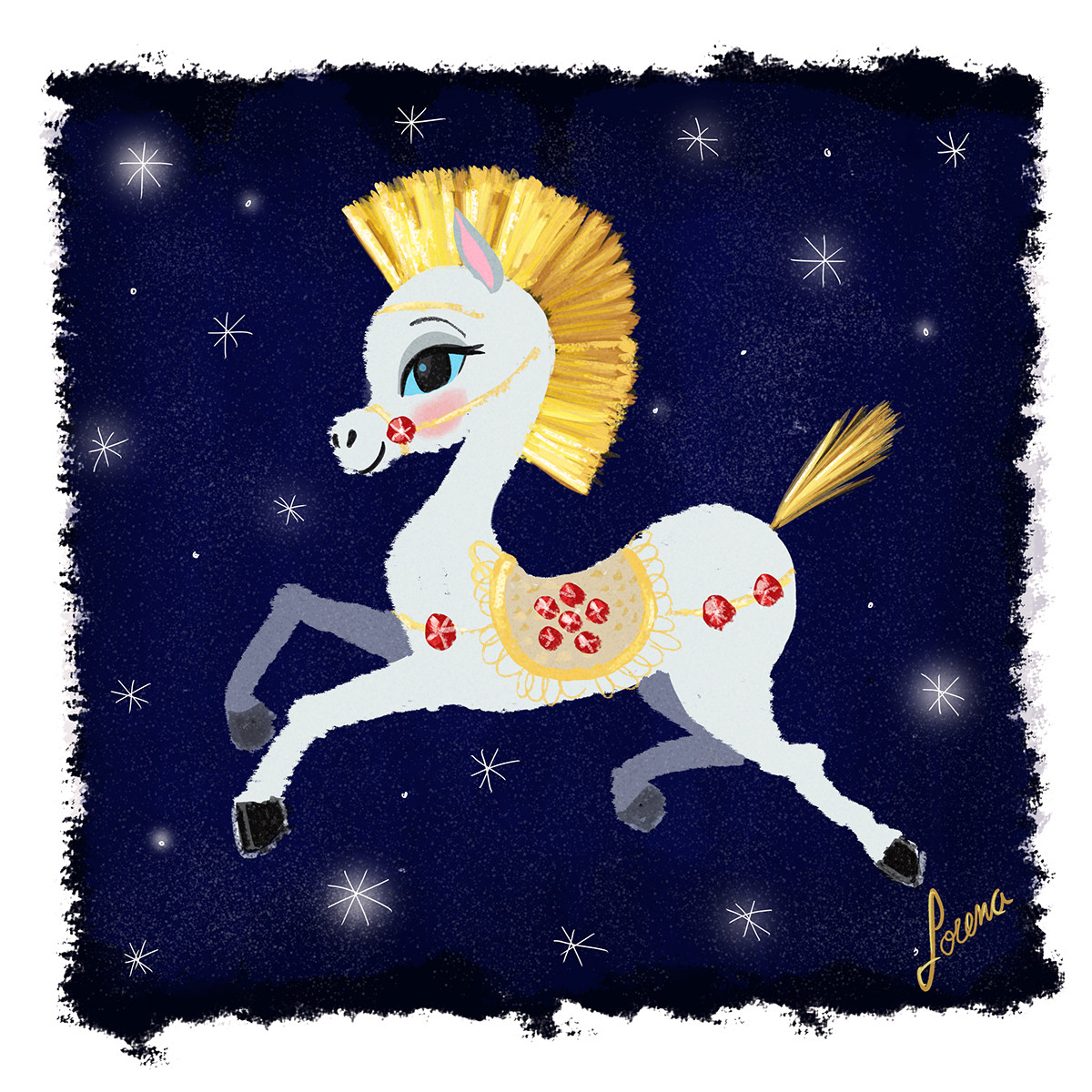 Lorena loguen magic pony for wish you a happy new year by lorena loguen