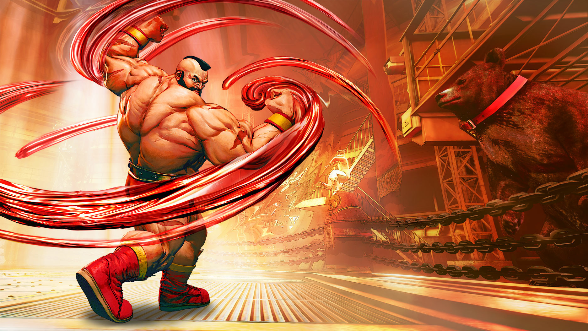 David giraud zangief sf5 artwork
