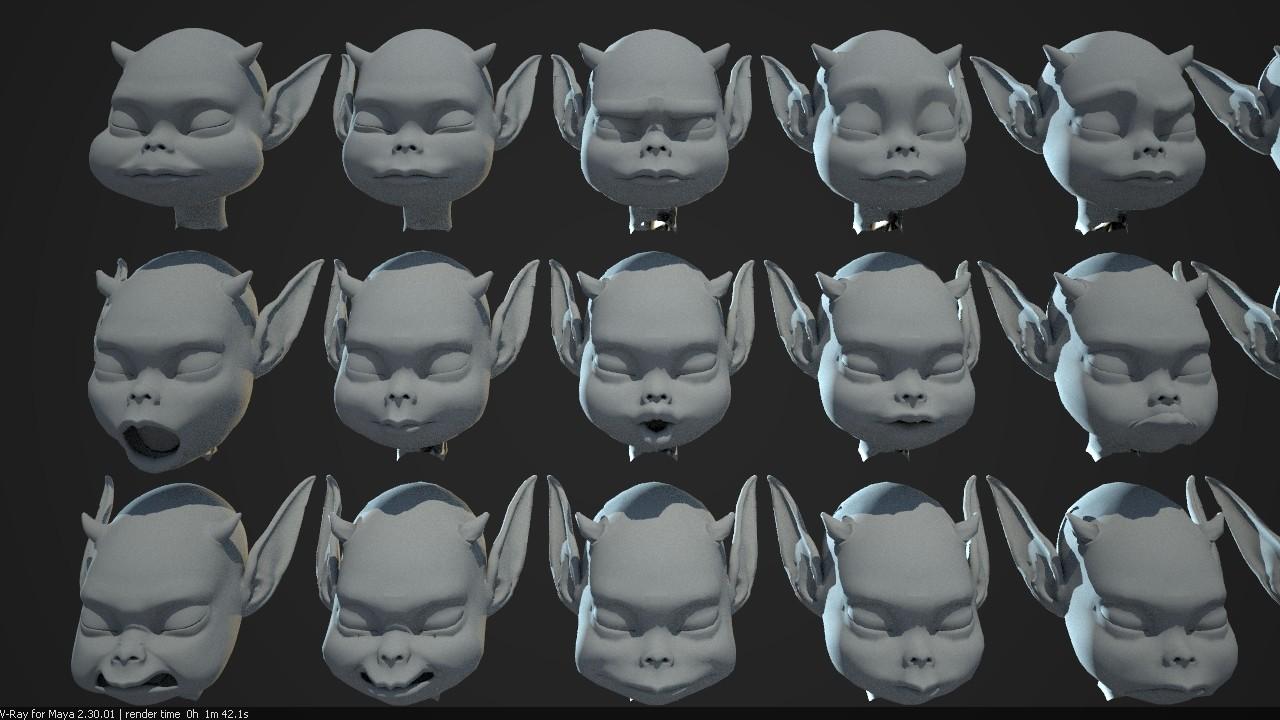 ArtStation - Facial blendshape modeling, David Rutherford