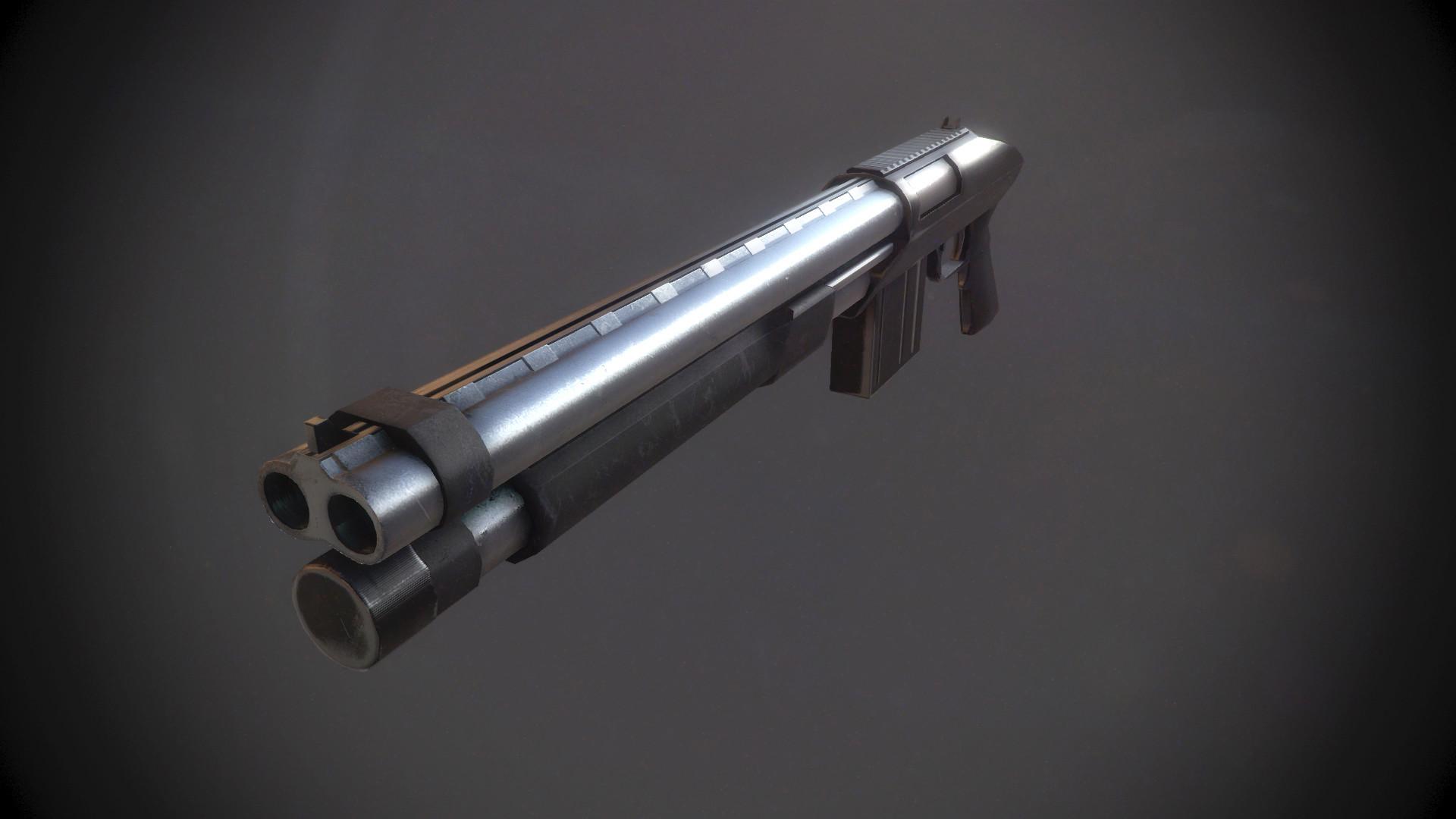 Xavier carton fusil a pompe 03