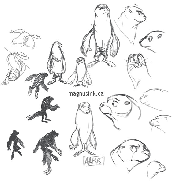 Explorations for seal anthropomorphism.