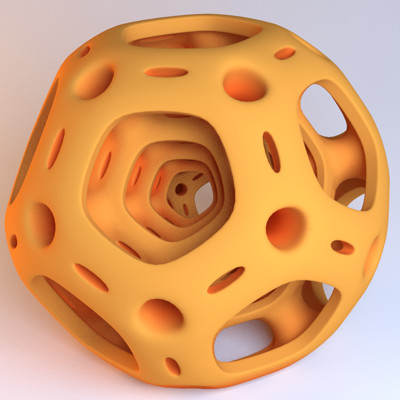 Matej chalachan dodecahedron conected vray