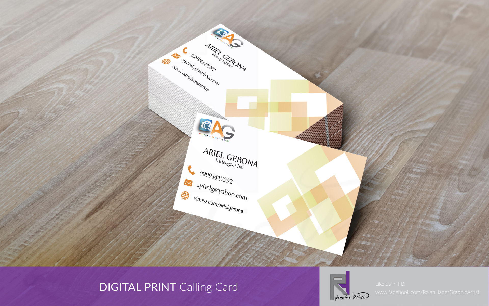 RHLayout Artist - Calling Card