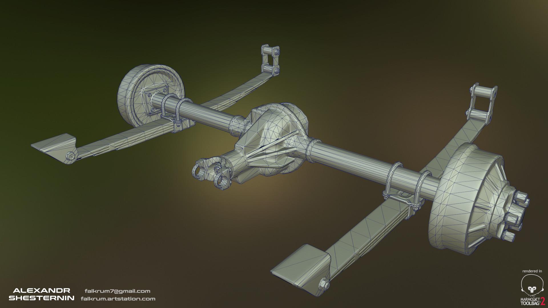 Alexandr shesternin rear axle02