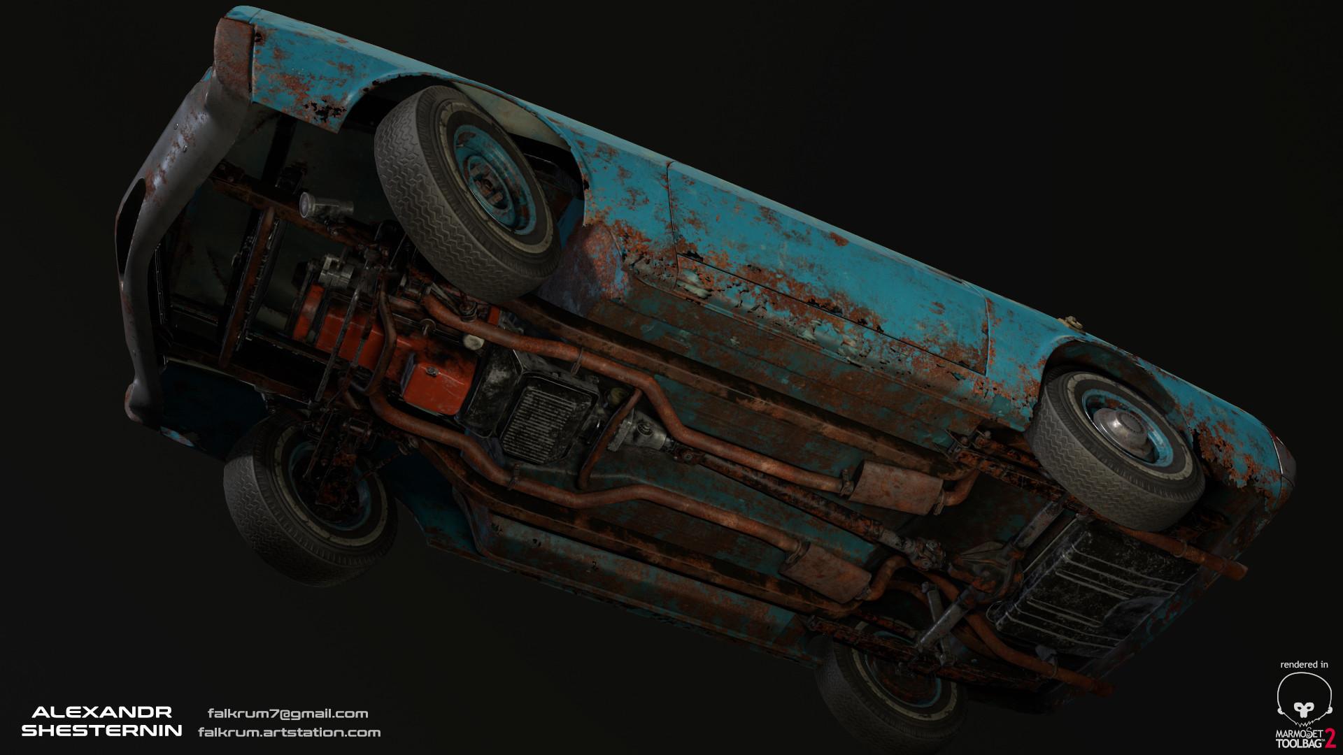 Alexandr shesternin modular abandoned car07