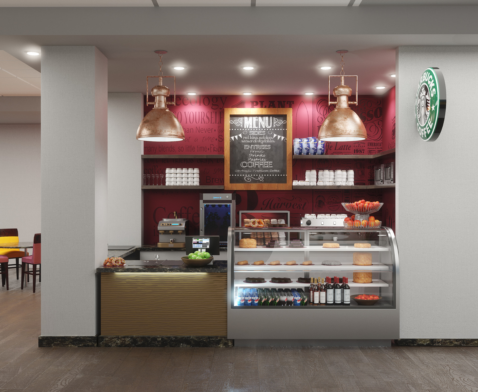 Grab and Go - Hilton Interior Rendering