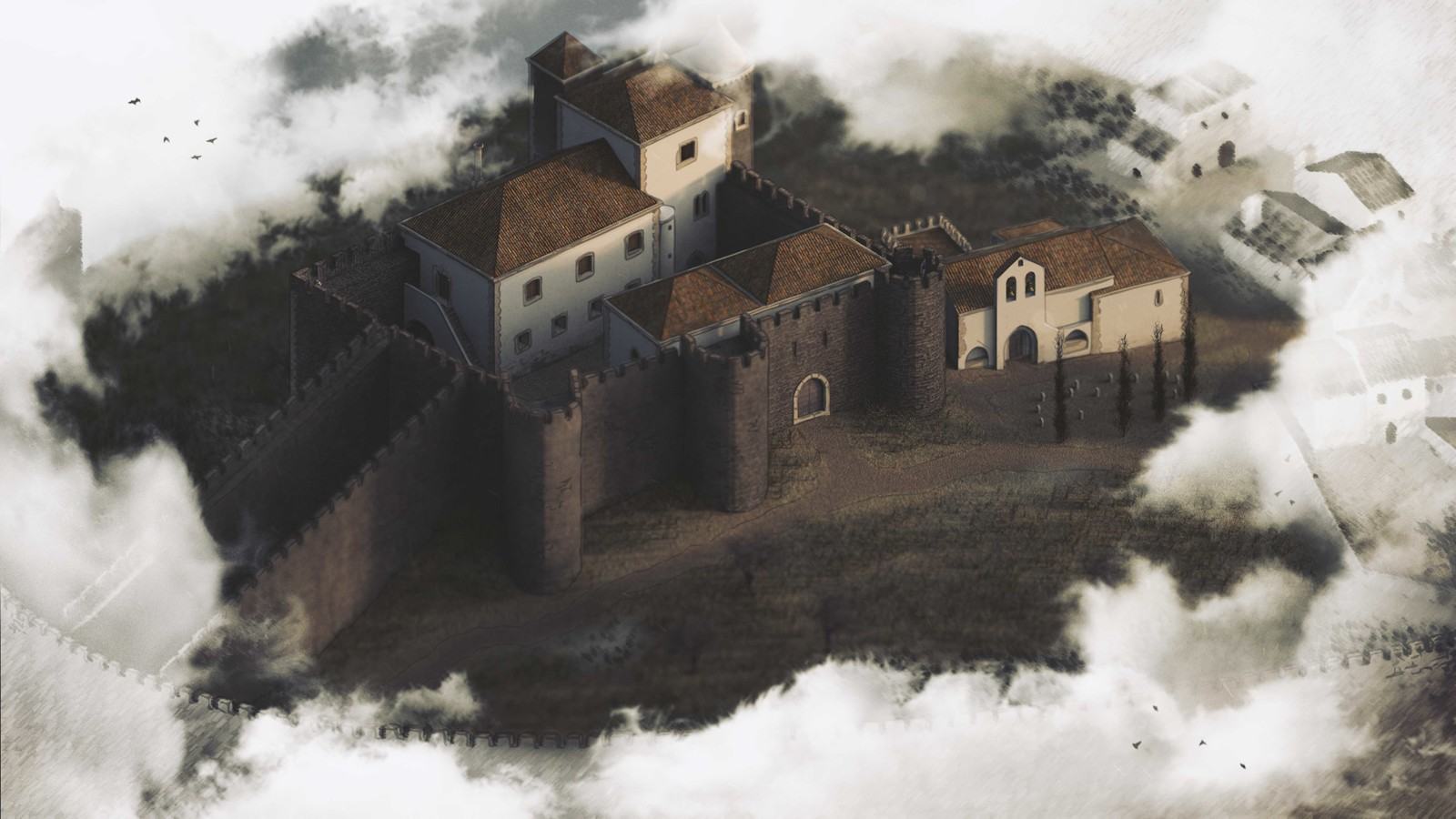 Paço dos Alcaides 3D - Montemor-o-Novo 1534