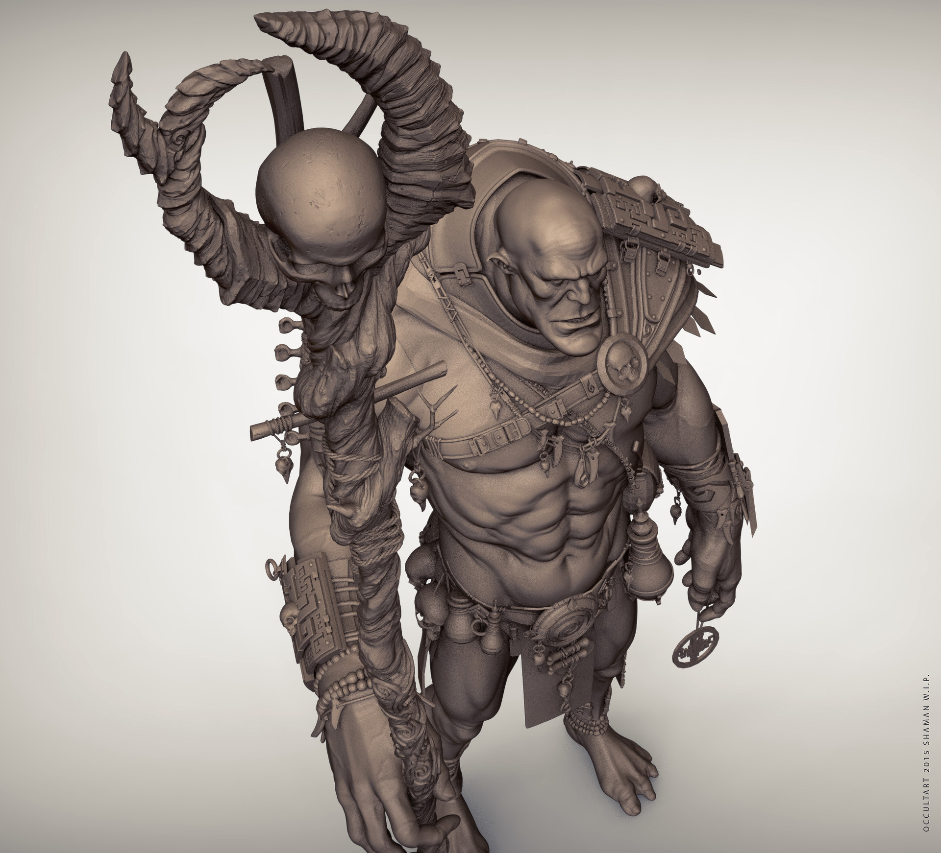 Occultart   orc shaman 01